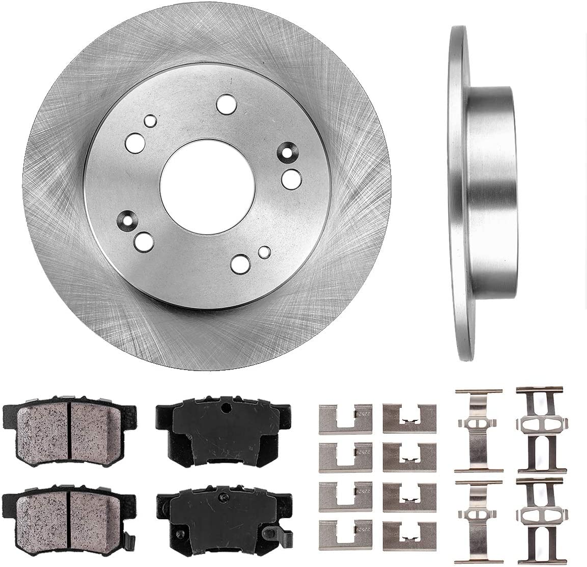 2006-2011 Civic EX EX-L Rotors w//Ceramic Pads OE Brakes Rear |Front