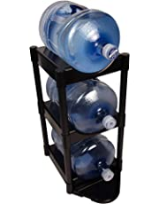 Bottle Buddy TBB80036 3-Tier with Floor Protection Kit, Black