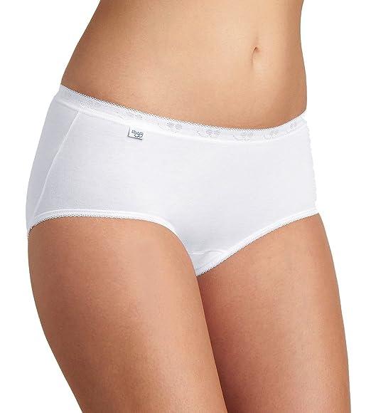 many fashionable limited guantity wholesale sales Sloggi Basic + Midi - Slip - Lot de 4 (3+1 gratuit) - Femme - Beige (Nacre)  - FR : 44 (Taille fabricant : 44)