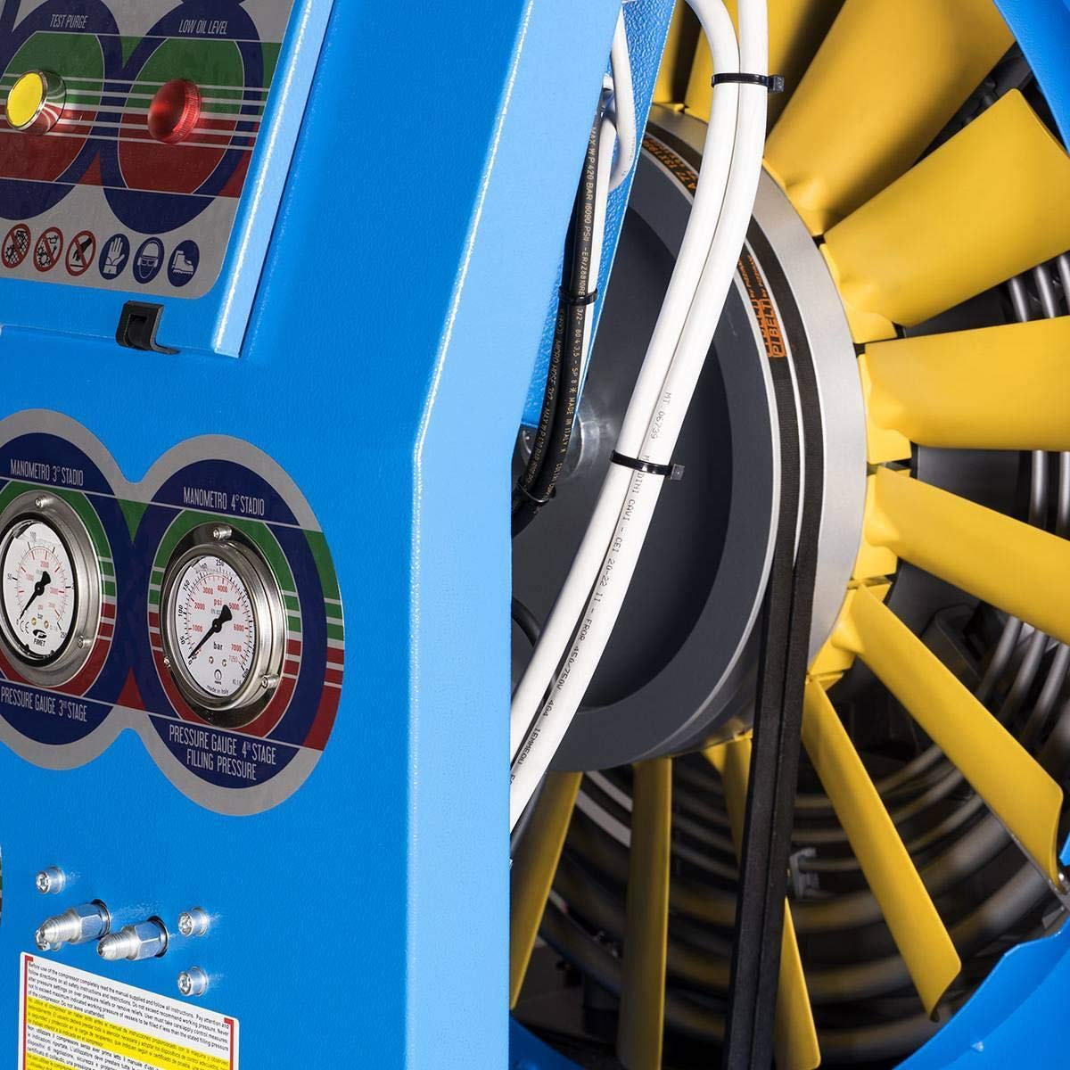 420 bar Max Coltri breathing compressor filling capacity 450 litres/min