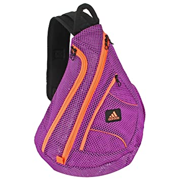 Amazon.com: adidas Vista Mesh Sling Backpack, Flash Pink/Flash ...