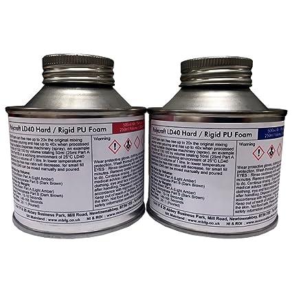 Polycraft LD40 Ravel espuma de poliuretano - Carcasa rígida/rígida - 500 ml Kit