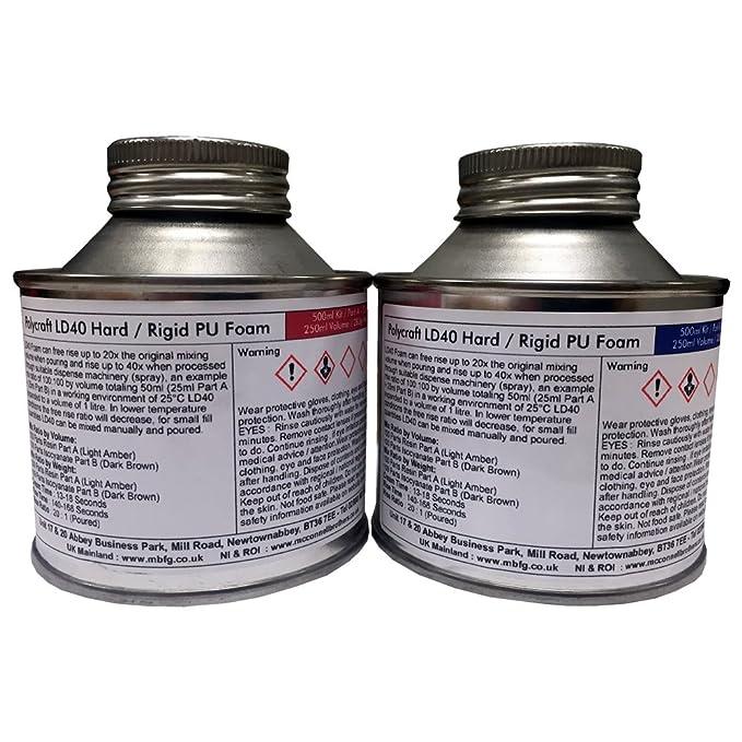 Polycraft LD40 Ravel espuma de poliuretano - Carcasa rígida/rígida - 500 ml Kit: Amazon.es: Bricolaje y herramientas