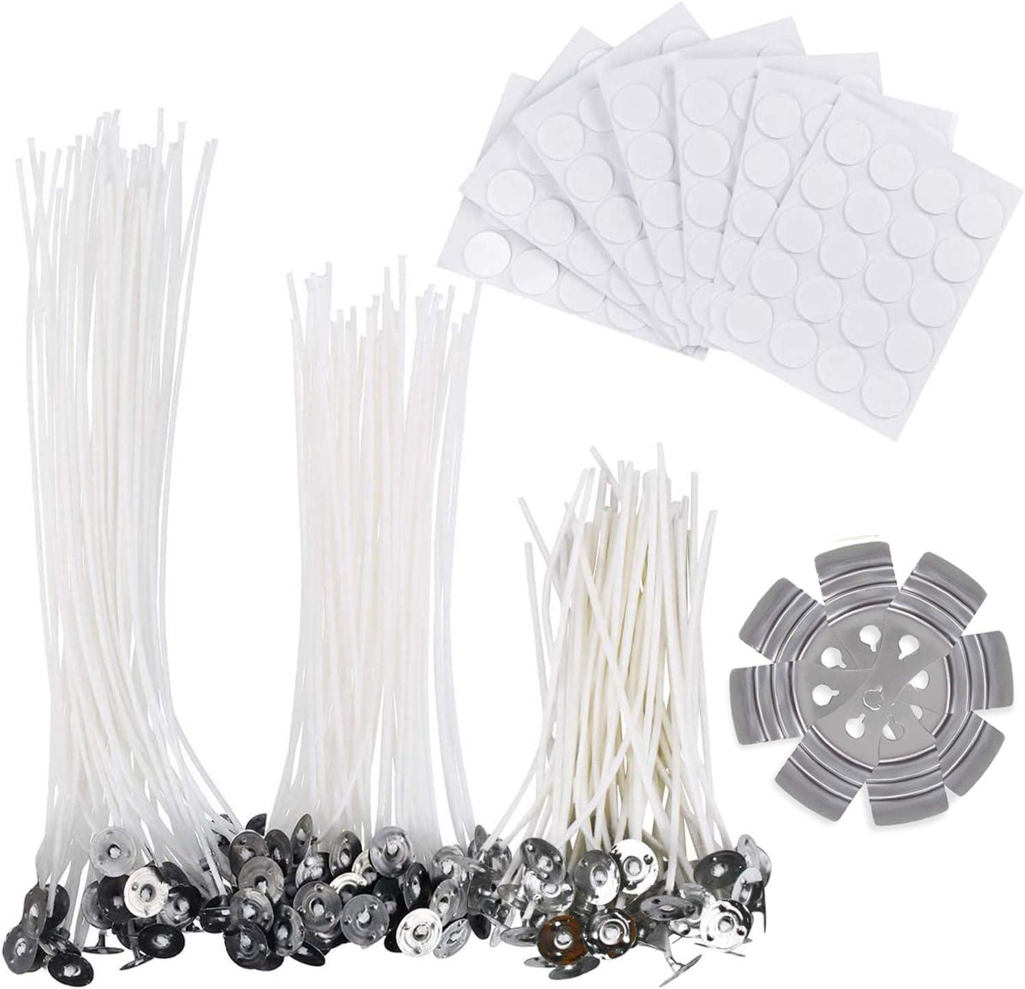 Kit para hacer velas, 150 mechas naturales (10 cm, 15 cm y 20 ...