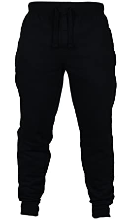 New Mens Slim Fit Tracksuit Bottoms Skinny Jogging Joggers Sweat Pants  Trousers (Small (32