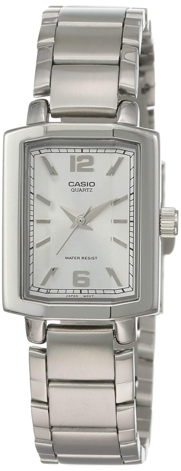 Casio Womens Ltp-1233D-7A Silver Stainless-Steel Analog, Silver, Size No Size