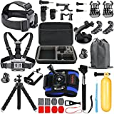 HAPY Trousse d'accessoires pour gopro Sportive, caméra hero6,5 Black, Le héros a, Session, gopro Fusion, dbpower, akaso, apeman, sj cam, xiao yi, caméra 2, Sony, Sports