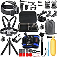 HAPY Sports Action Camera Accessory Kit for GoPro Hero6,5 Black,HERO (2018),Hero 5,4,3,Hero Session,GoPro Fusion,DBPOWER,AKASO,APEMAN,SJ CAM,Head Strap Camera Mount,Chest Mount Harness