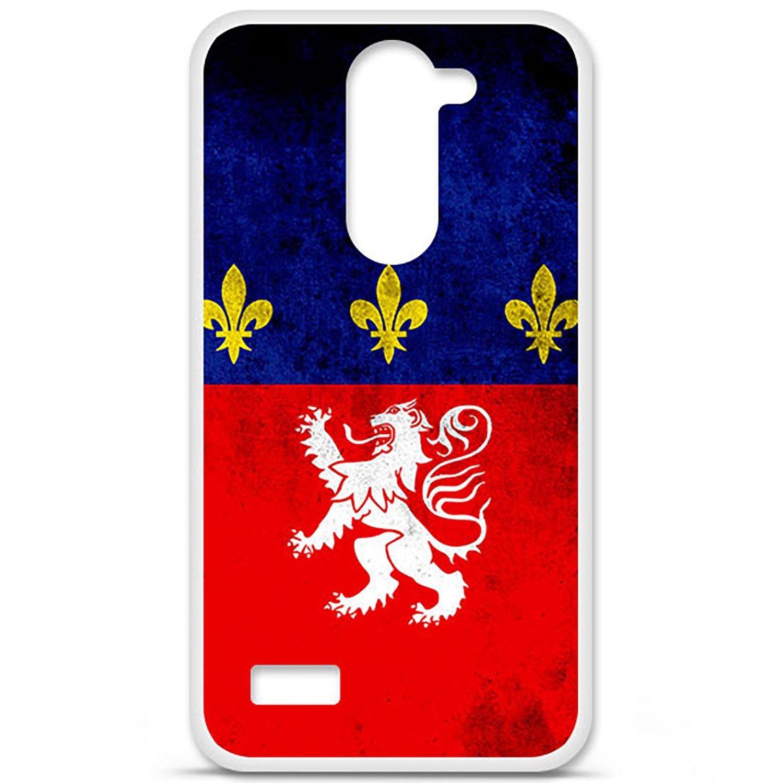 Carcasa para LG L Bello silicona, diseño de bandera de lyon ...