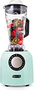 Dash Chef Series Deluxe 64 oz Blender with Stainless Steel Blades + Digital Display for Coffee Drinks, Frozen Cocktails, Smoothies, Soup, Fondue & More, 1400-Watt – Aqua