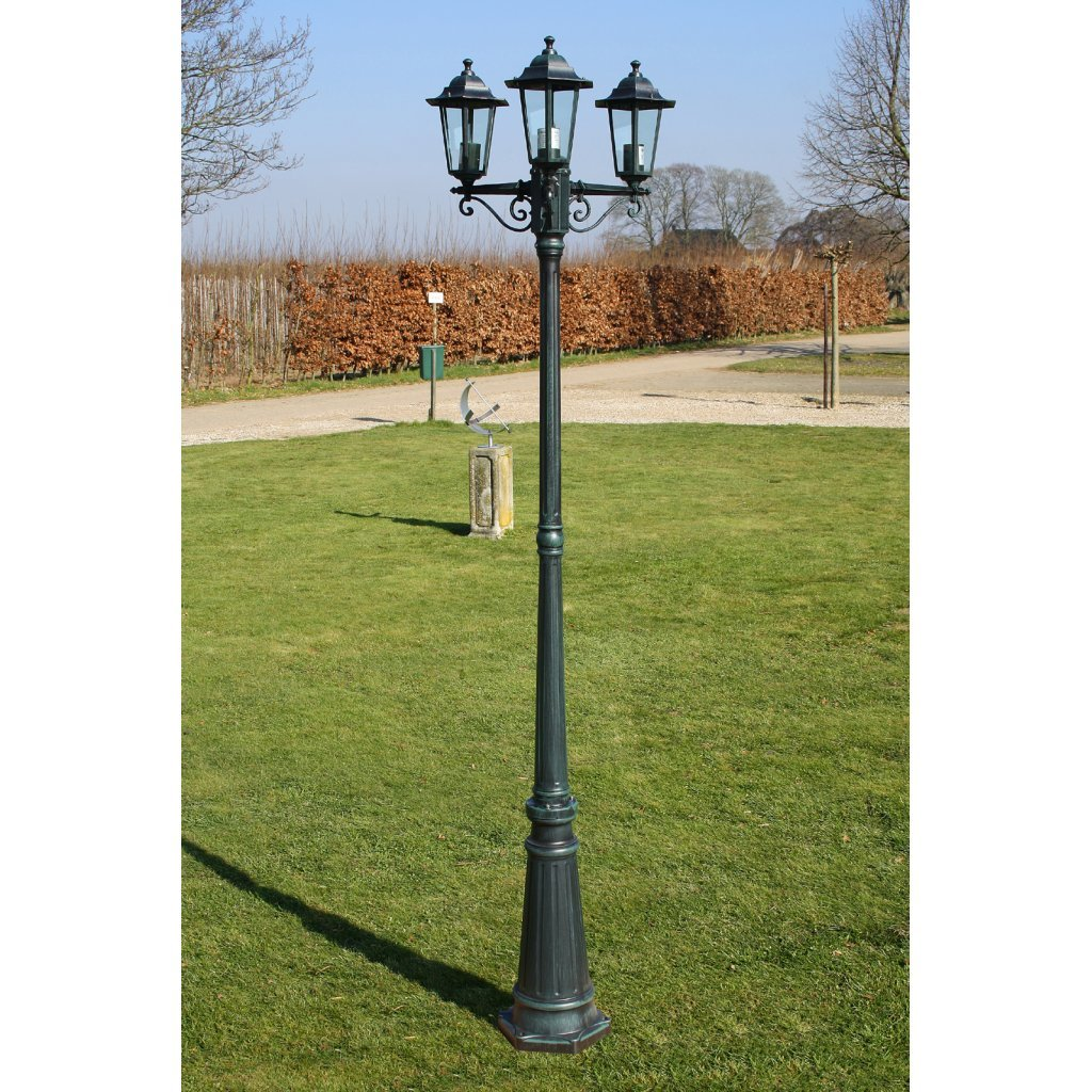 vidaXL Kingston garden light post 3-arms 230 cm green