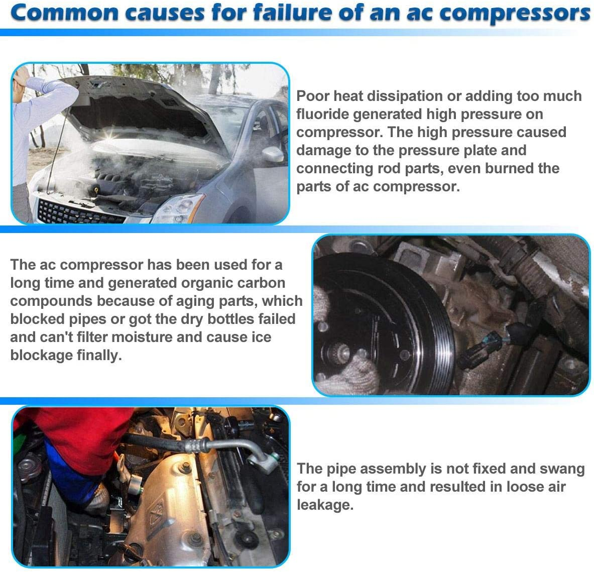 57885 Used AC Compressor For 2005-2015 Nissan Frontier Xterra 4.0l