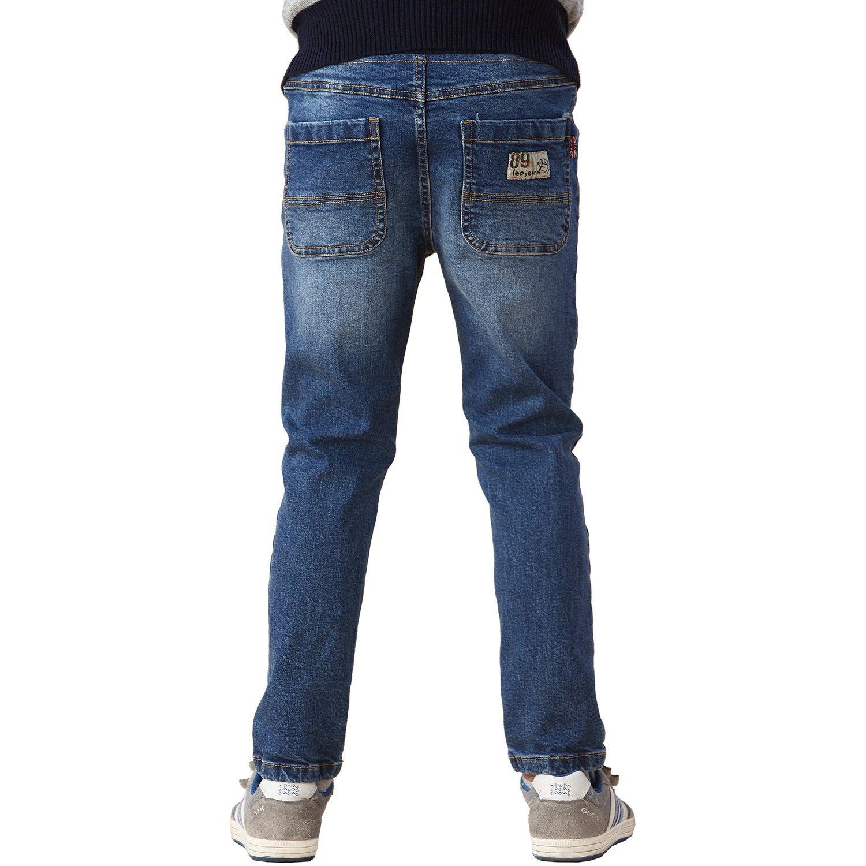 Leo&Lily Big Boys' Kids' Husky Rib Waist Stretch Denim Jeans Pants (8)