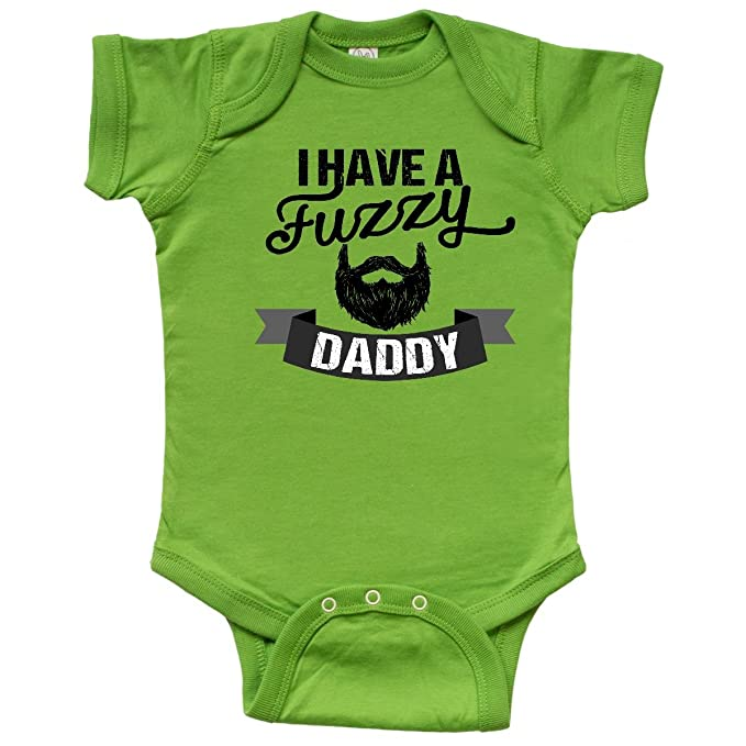 Amazon Com Inktastic Fuzzy Daddy Beard Infant Creeper Clothing