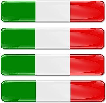 Skinoeu 4 X Sticker 3d Gel Silicone Stickers Italy Flag F 13 Auto