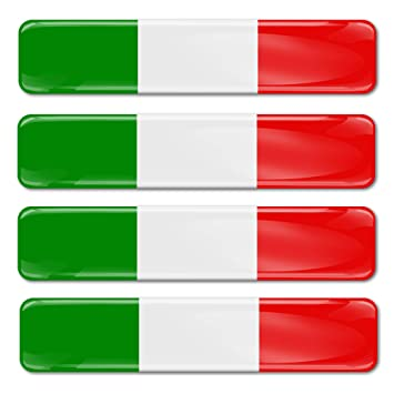 4 X Aufkleber 3d Gel Silikon Stickers Italien Flagge Autoaufkleber Italy Flag Fahne F 13