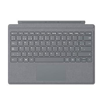 Microsoft Signature Type Cover - Funda con teclado para Surface Pro, Plata - Teclado QWERTY Español: Amazon.es: Informática