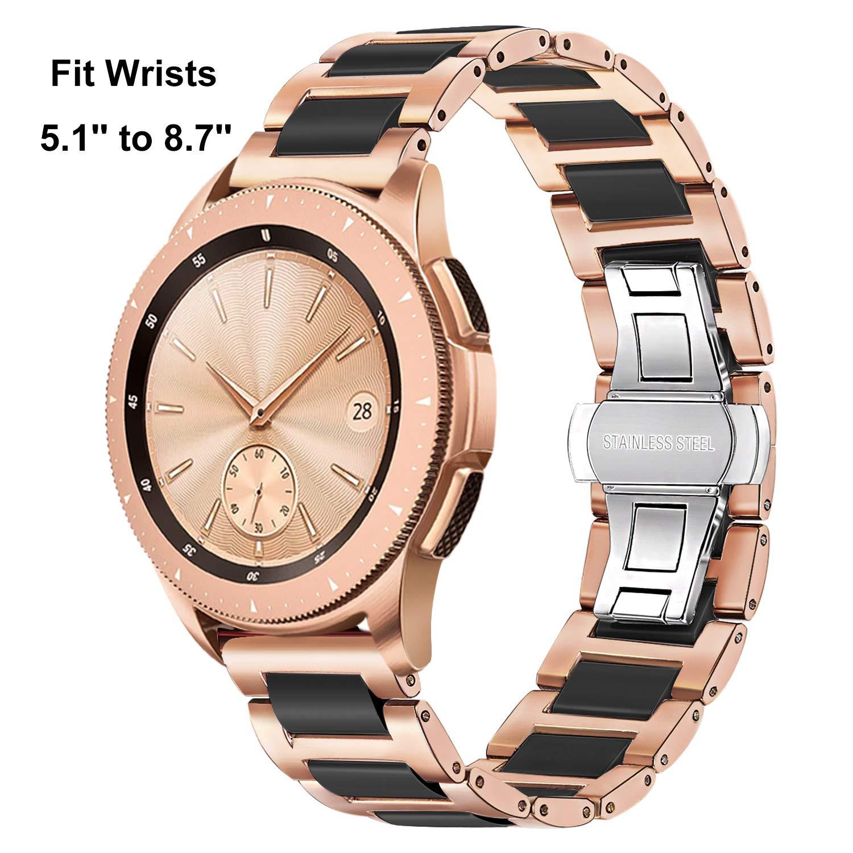 TRUMiRR 20mm Reloj de cerámica de la Venda de la Correa de Todos los Enlaces Desmontable para Samsung S2 Engranaje clásico (SM-R732 / R735), Moto 2 ...