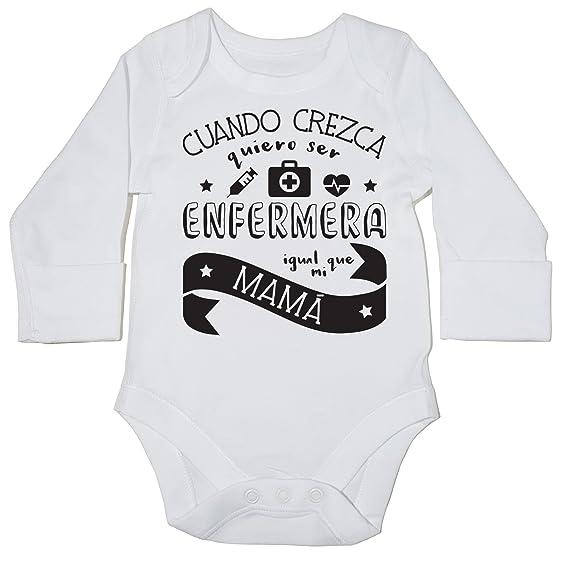 HippoWarehouse Cuando Crezca Quiero Ser Enfermera Igual Que Mi Mamá body manga larga bodys pijama niños niñas unisex: Amazon.es: Ropa y accesorios