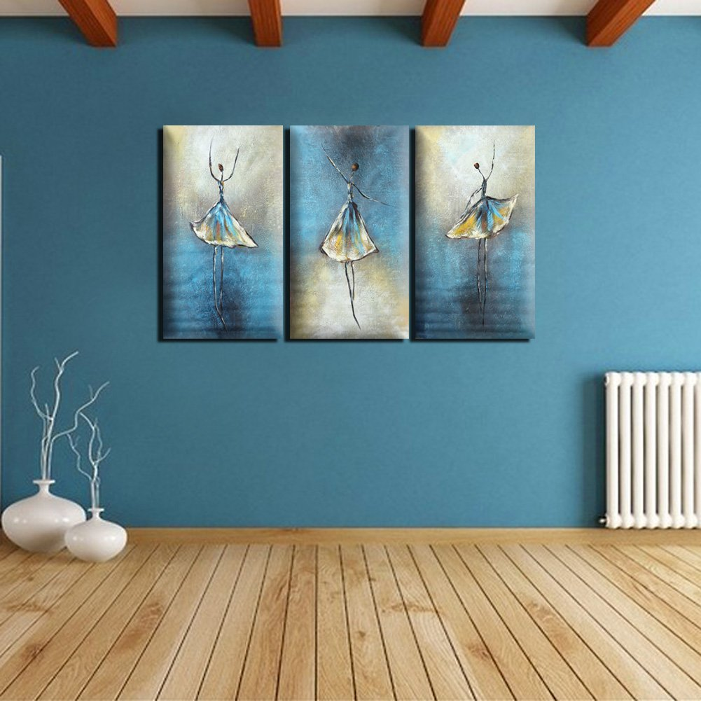 Amazon.de: Pinzhi® Ballerina Tanz handgemalte Bild Ölgemälde ...
