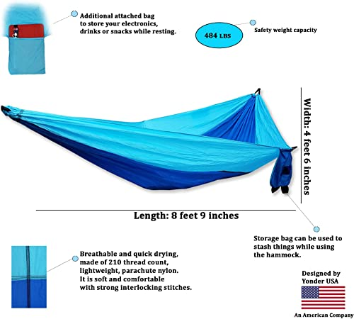 Five Elements Outdoor Gears Camping Hammock Single and Double with Carabiner and Tree Straps
