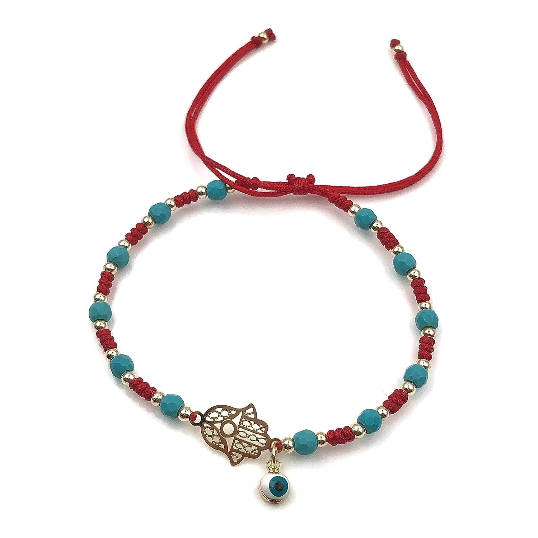 Hamsa Amazonite Beaded Bracelet
