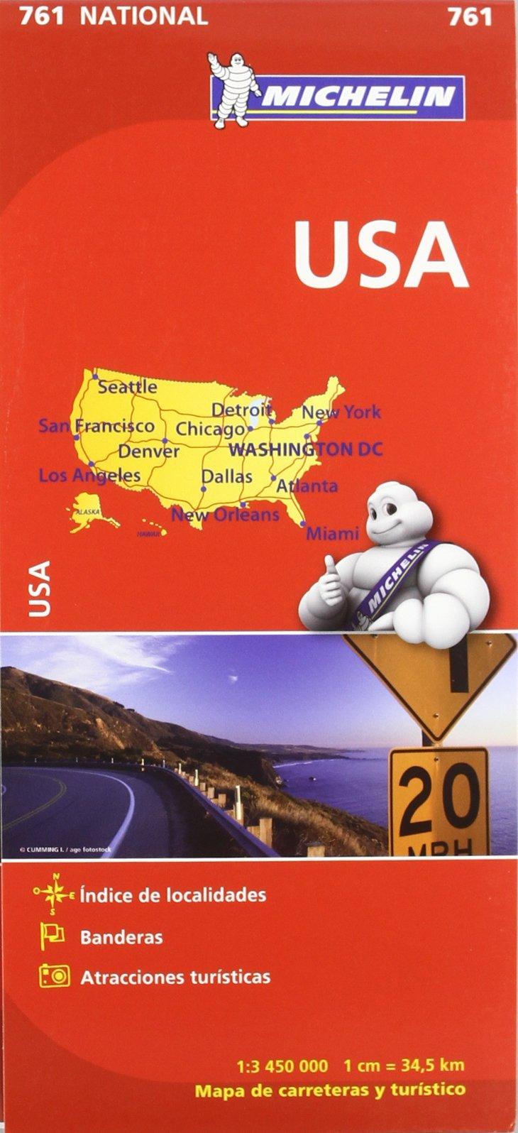 Mapa National U.S.A. (Mapas National Michelin): Amazon.es: Vv.Aa ...
