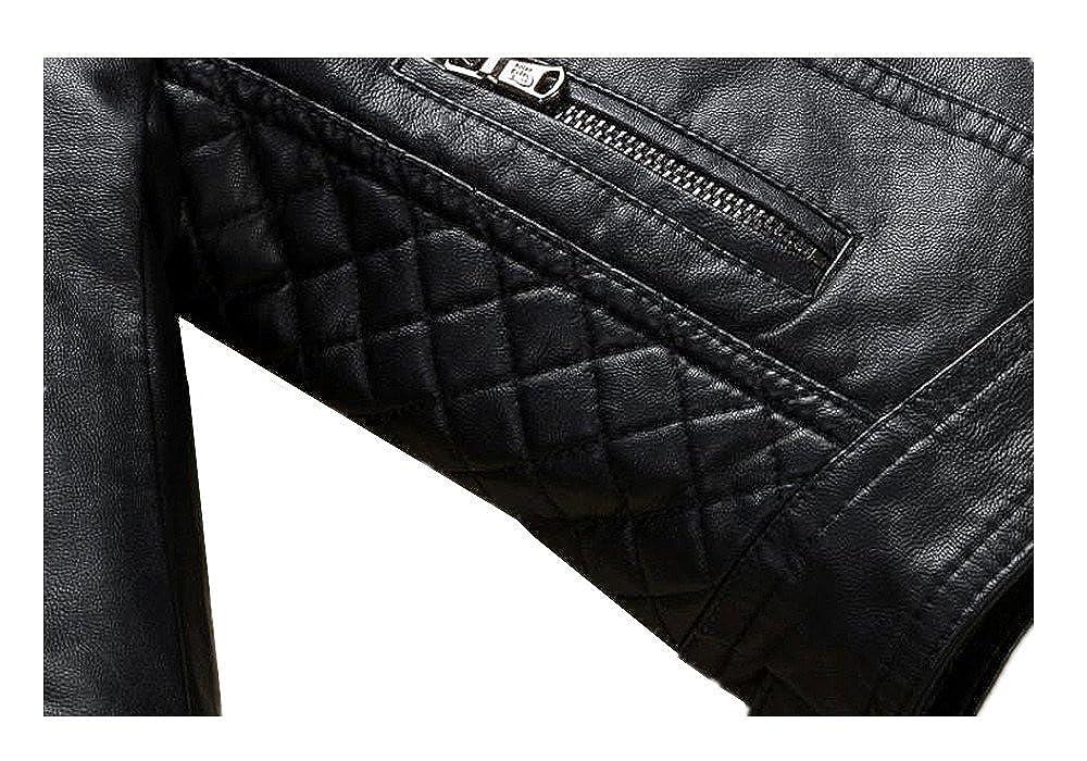 LJYH Childrens Fashion Leather Motorcycle Jacket Boys Winter Zipper Coat