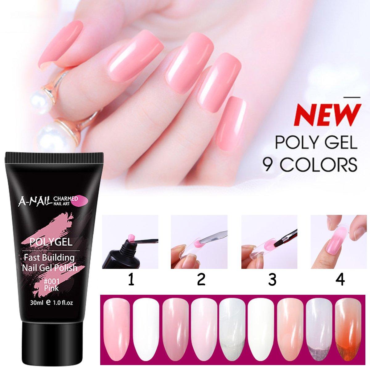 Abby - Gel de uñas para niñas con protección UV, sin dolor, con función de refuerzo de gel, para uñas de gel: Amazon.es: Belleza