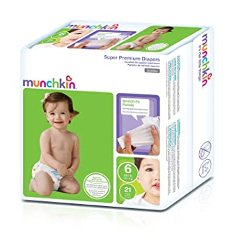Munchkin Super Premium Diapers, Size 6/XX-Large Ultra (35+ Pounds