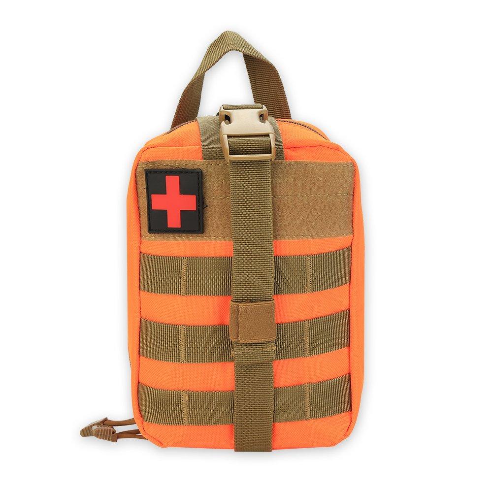 Erste Hilfe Tasche Leer Medizinische Tasche Taktische Rucksack Notfalltasche für Reisen Camping Wandern Radfahren Outdoor ( Farbe : Armeegrün ) VGEBY