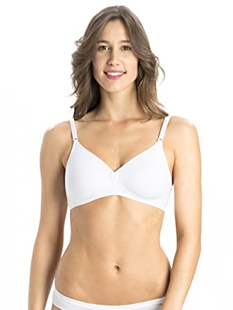 5a3d83a92c1 Jockey Women's Non-Wired Non-Padded Seamless Bra (1581, White, 34B ...