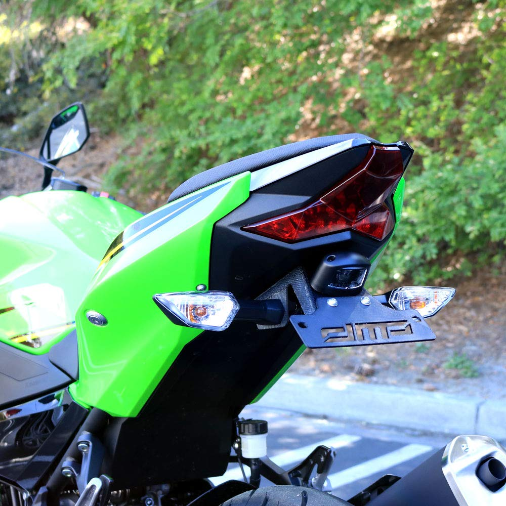 Ninja 400 2018 DMP Fender Eliminator Kit SLR For use with OEM Markers and Plate Lights - Made in the USA by DMP (Image #1)