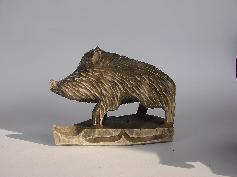 Wild Boar Vintage wooden Wooden figure Vintage Wooden statue decorative Wooden boarStatue Carved Vintage sculpture Handturned gift for friend AF5