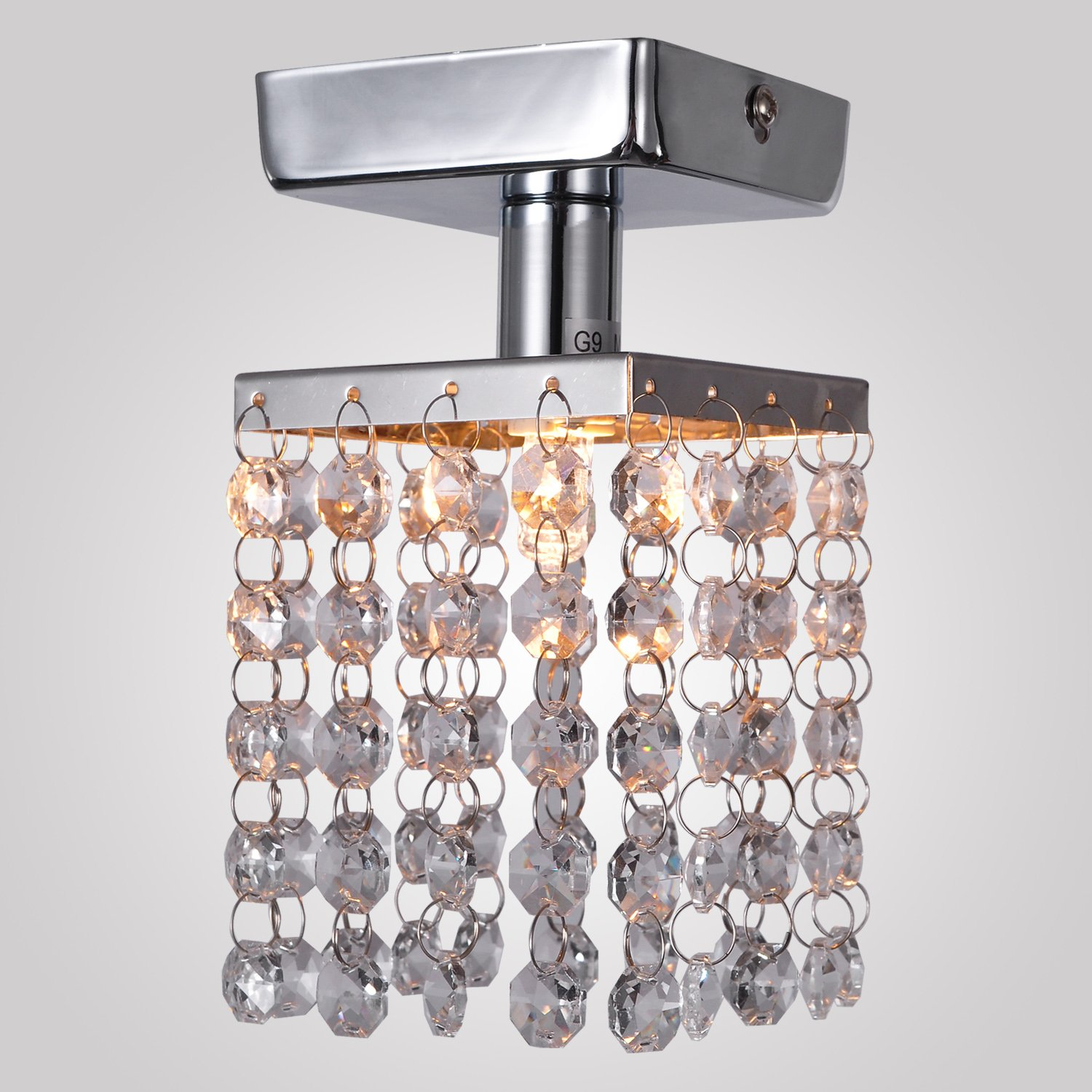 Lightinthebox mini semi flush mount in crystal chrome finish lightinthebox mini semi flush mount in crystal chrome finish modern home ceiling light fixture flush mount pendant light chandeliers lighting arubaitofo Choice Image
