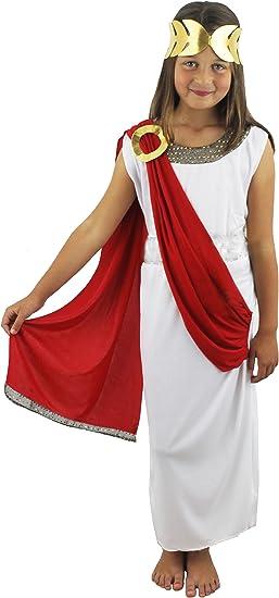 ILOVEFANCYDRESS - Disfraz de diosa romana para niñas, color blanco ...