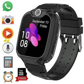 Smartwatch Niños Musica MP3 - Reloj Inteligente Niño 7 Juegos - Reloj del Teléfono, Reloj Inteligente Niña, Reloj de Cámara Alarma, Realiza Llamadas, ...