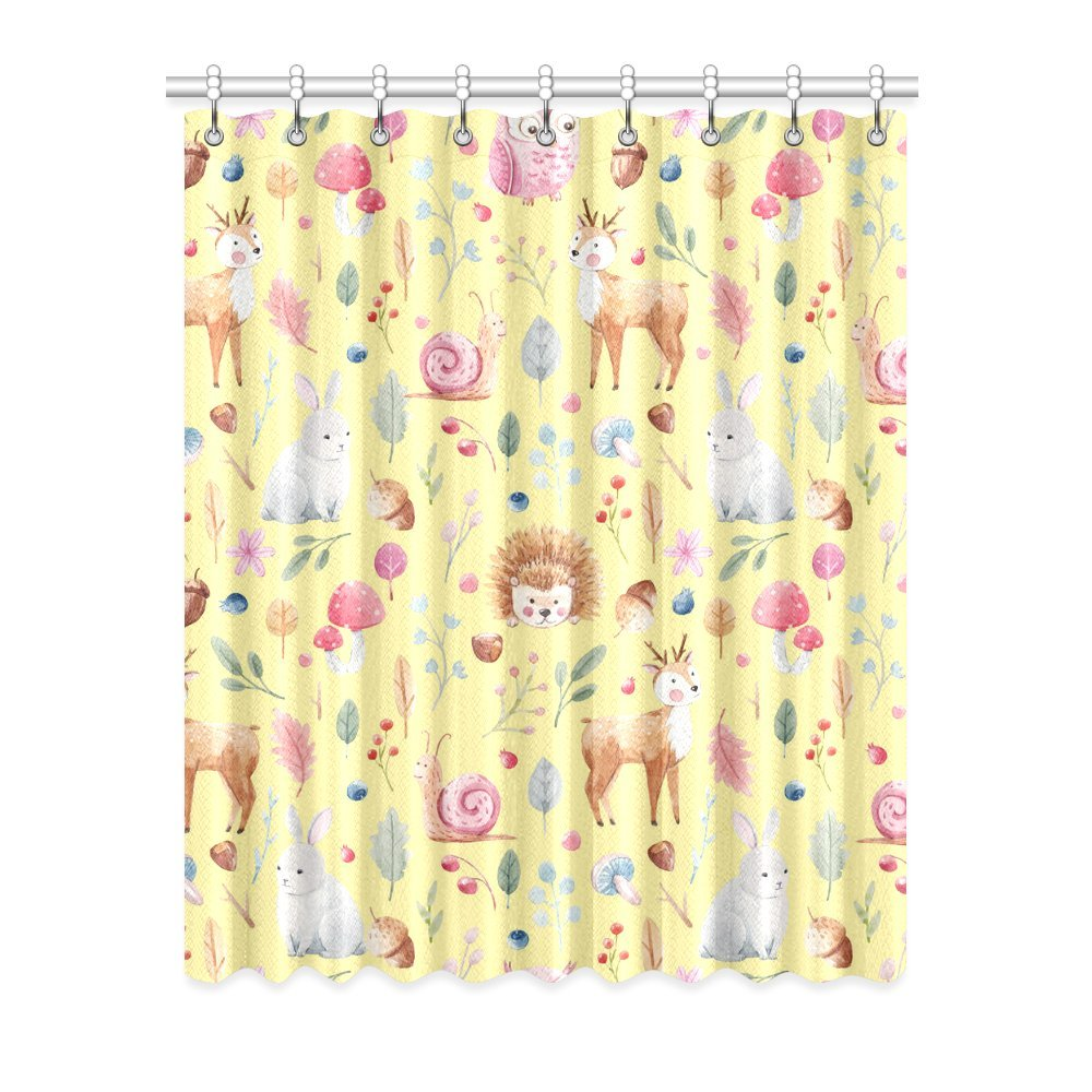 Unique Debora Custom Home Decor Polyester Window Curtain Blackout Curtains for Bedroom and Living Room with Cute Animals Pattern