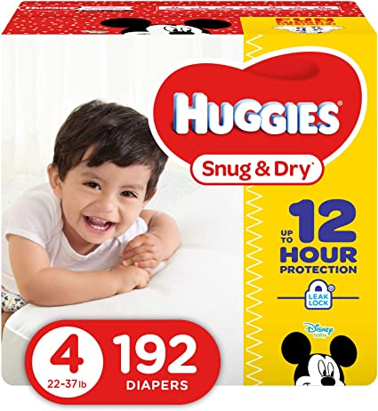Trial Pack Size 4 Huggies Snug and Dry Diapers 3 count