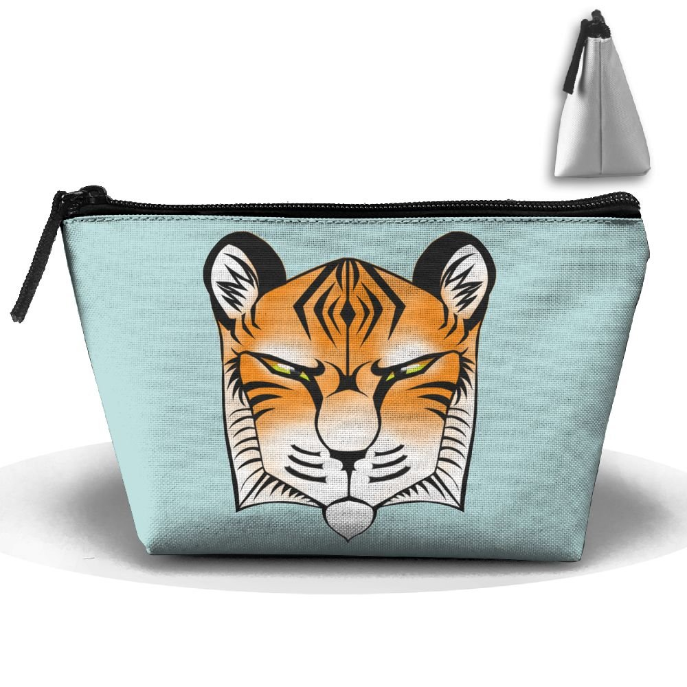 Unisex Stylish And Practical Cartoon Cute Tiger Doodle Trapezoidal Storage Bags Handbags well-wreapped