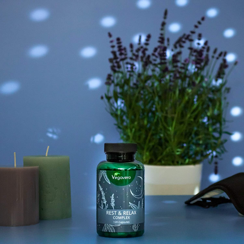Suplemento Para Ansiedad + Insomnio Vegavero® | Anti Estrés | Melatonina + Valeriana + Pasiflora + Lavanda + Bacopa Monnieri | 100% VEGETAL | Sin ...