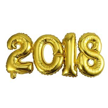 Nuolux Globo Numero 2018 Globo De Papel De Aluminio Golden 2018 Para
