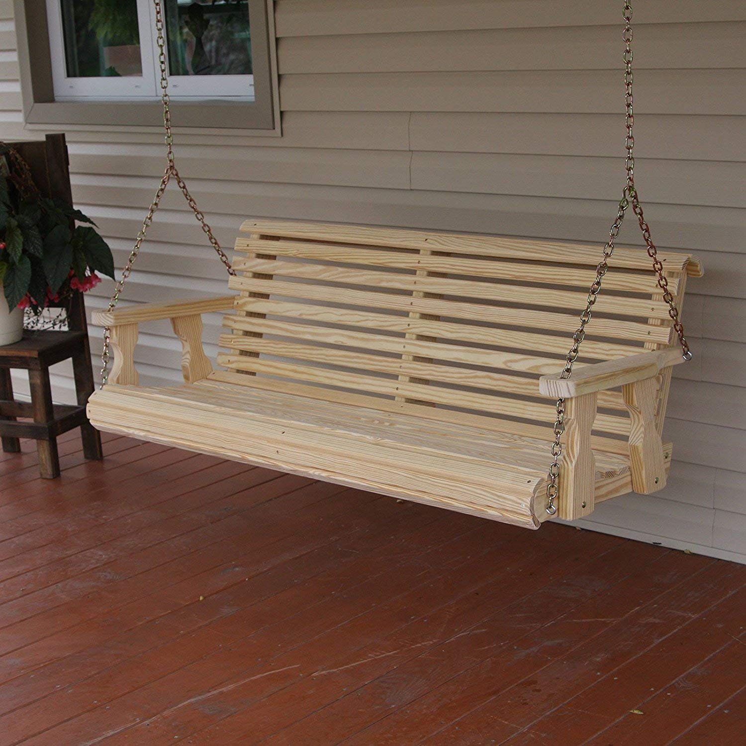 CAF Amish Heavy Duty 800 Lb Roll Back 4ft. Treated Porch Swing