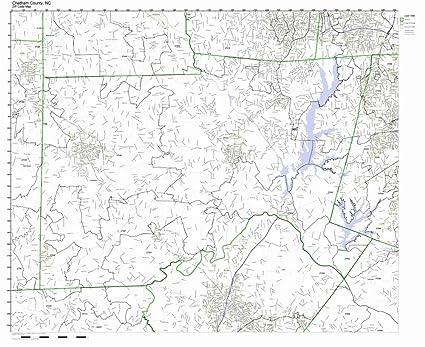 Amazon.com: Chatham County, North Carolina NC ZIP Code Map Not