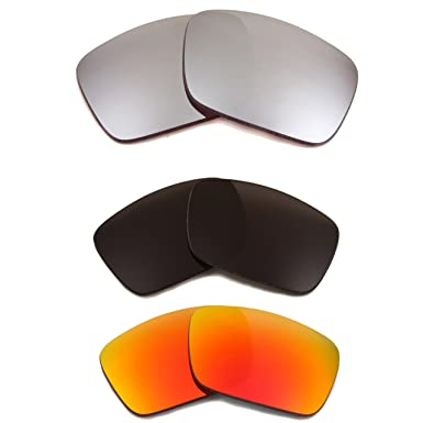 b788332ec2 Image Unavailable. Image not available for. Color  FUEL CELL Replacement  Lenses Polarized Black Red Silver by SEEK fits OAKLEY