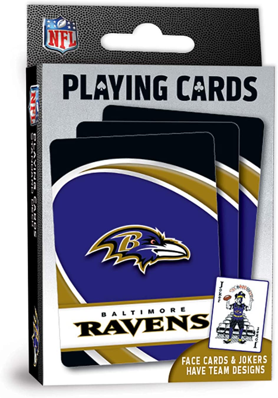 """MasterPieces NFL Baltimore Ravens Playing Cards,Blue,4"""" X 0.75"""" X 2.625"""""""