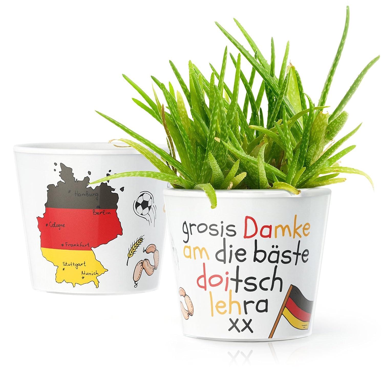 Blumentopf (ø16cm)   Lustiges Geschenk für den Deutsch Lehrer ...