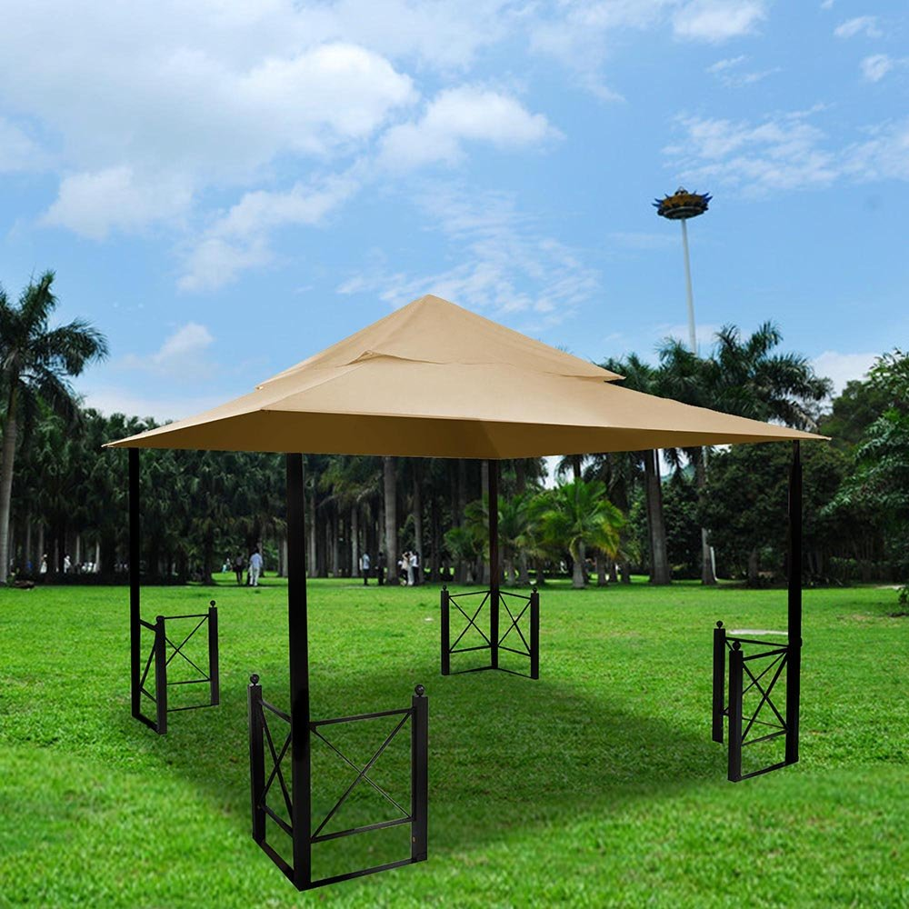 Yescom 2 Tier 12x12 Outdoor Canopy Top Cover Replacement for Harbor Gazebo GFS01250A