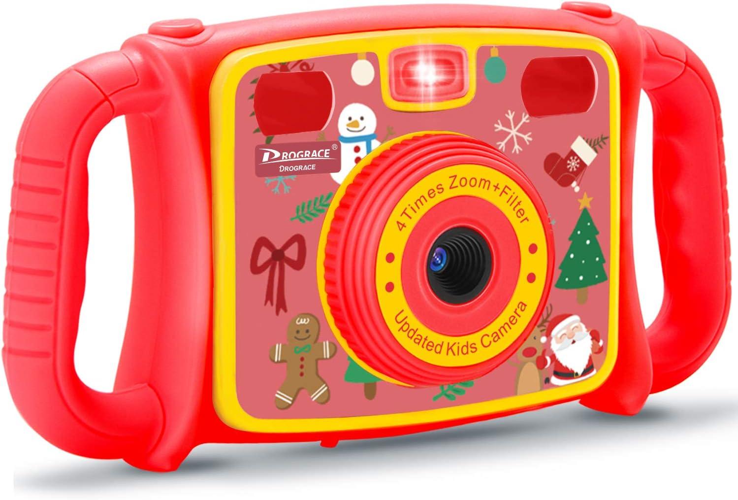 Flash DROGRACE Children Kids Camera 1080P HD Digital Video Camera with 4X Zoom