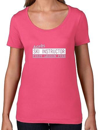 Dressdown Apres Ski Instructor - Damen T-Shirt mit Rundhalsausschnitt-  Azalee - S